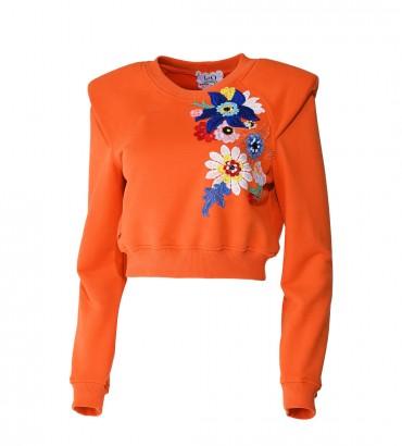 Женская одежда свитшот Гвен оранжевого цвета