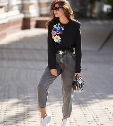 Женская одежда свитшот Гвен черный
