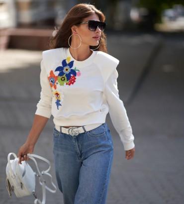 Женская одежда свитшот Гвен молочного цвета