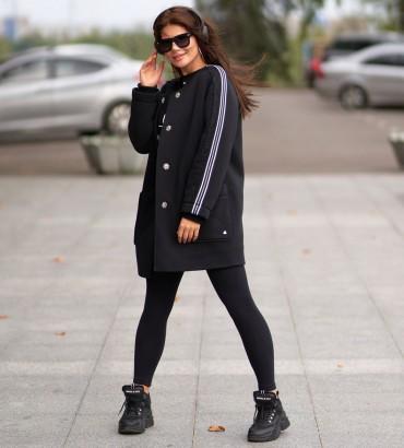 Одежда пальто женское черное Аден