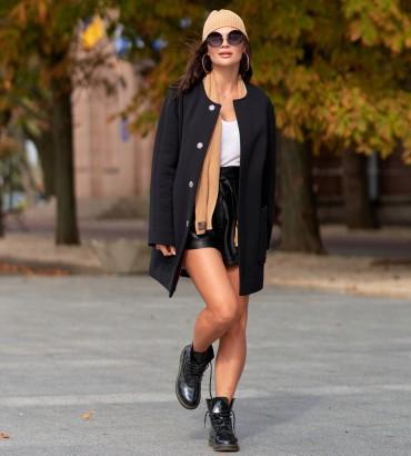 Одежда пальто женское черное Вивьен
