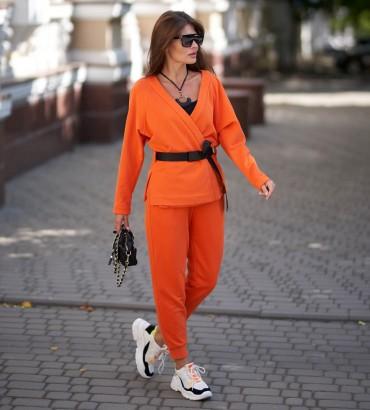 Женский костюм с кимоно Вивьен оранжевого цвета