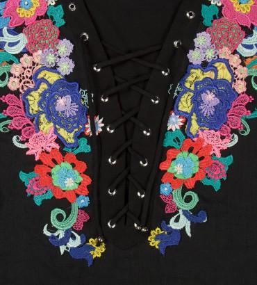 Одежда черное платье лен Дольче Вита 2