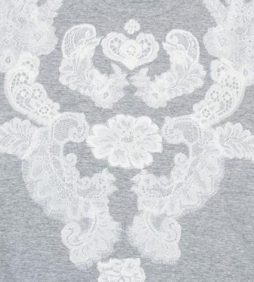 Одежда серая футболка с кружевом Мираж 2