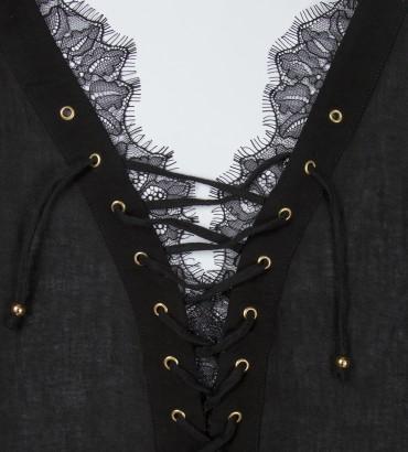 Одежда черное платье лен Омега 2