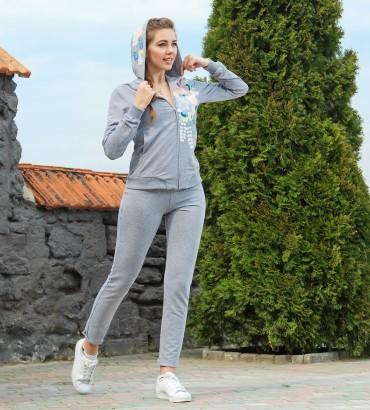 Одежда спортивный костюм серый Акварель