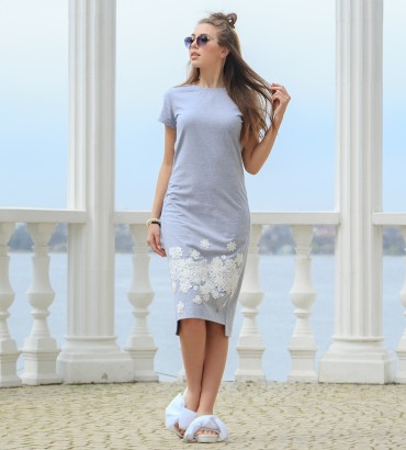 Одежда платье миди серое Флавия