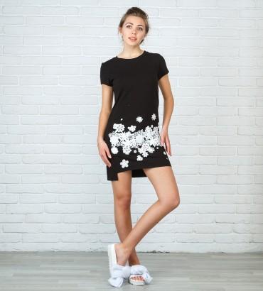 Одежда платье мини черное Флавия