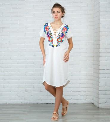 Одежда летнее платье лён Дольче Вита