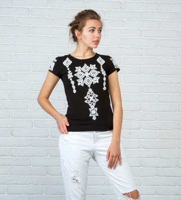 Одежда женская футболка с кружевом Соломия