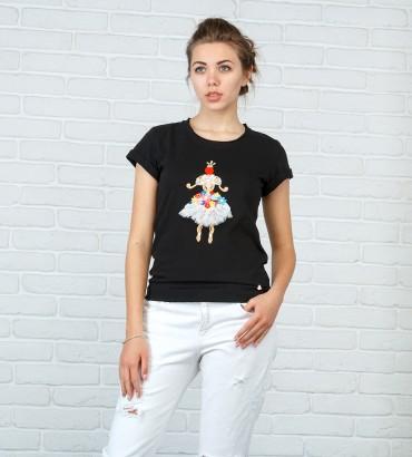 Одежда футболка черная женская Принцесса