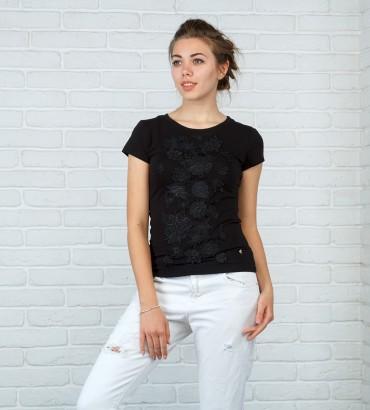 Одежда футболка черная Кира black