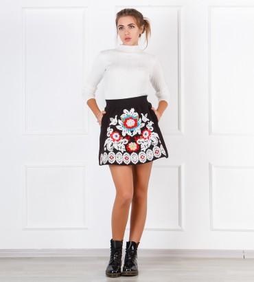 Одежда черная юбка теплая Миллениум