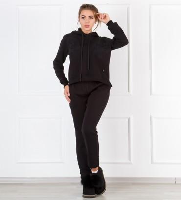 Одежда черный спортивный костюм теплый Катрин black