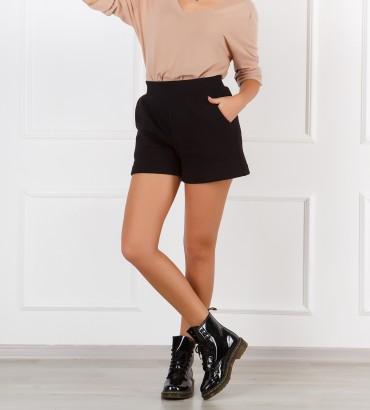 Одежда черные теплые шорты женские 2