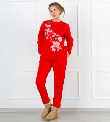 Одежда спортивный костюм красный Сады Семирамиды