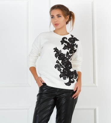 Одежда белый свитшот Камилла black