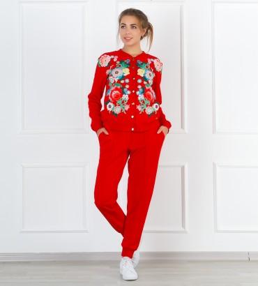 Одежда красный спортивный костюм Версаль