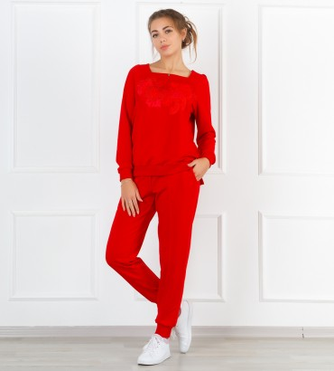 Одежда спортивный костюм красный Дакота
