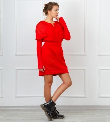 Одежда платье красное миди Катрин