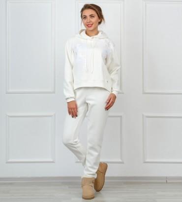 Одежда белый спортивный костюм с кружевом Катрин white