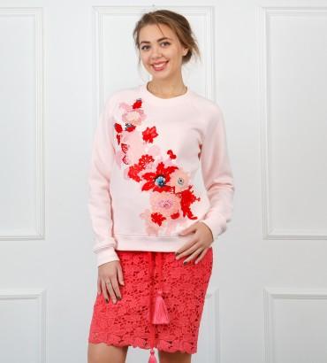 Одежда свитшот розовый Сады Семирамиды