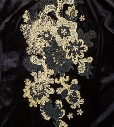Одежда черное платье бархатное Богемия 2