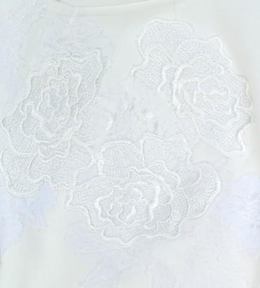 Одежда белый спортивный костюм с кружевом Катрин white 2