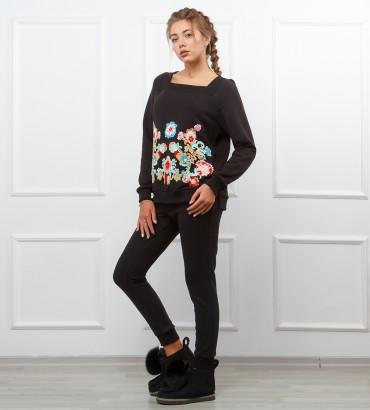 Одежда черный спортивный костюм Нефрит