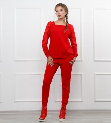 Одежда спортивный костюм красный Мишель
