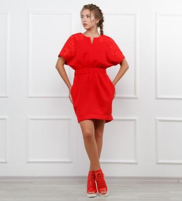 Одежда платье красное Марлен red 2