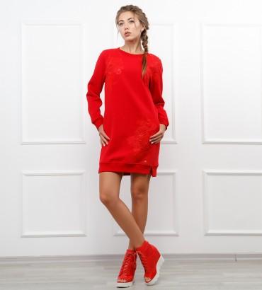 Одежда женский свитшот красный Катрин
