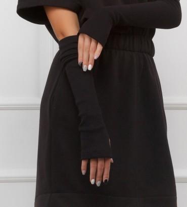 Одежда черное платье теплое Марлен black 2