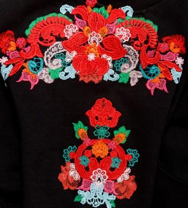 Одежда черный свитшот женский Полина 2