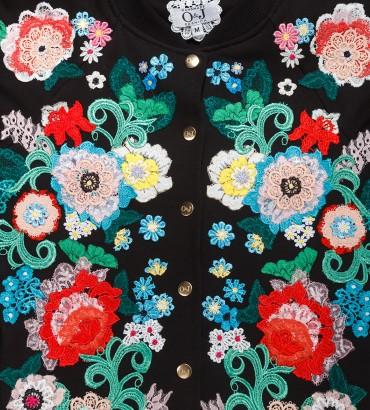 Одежда бомбер женский черный Версаль 2