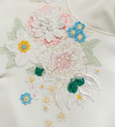 Одежда белый худи короткий Сабина 2