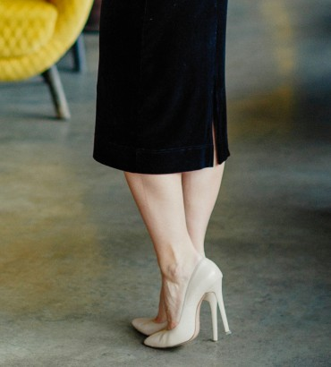 нарядное бархатное платье черного цвета 2