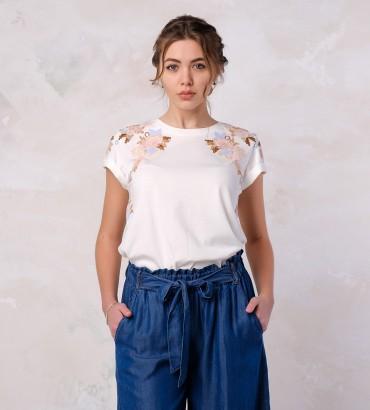 Одежда футболка белая оливия