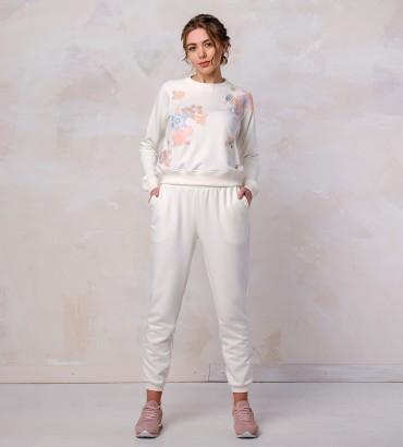 Одежда спортивный костюм белый Хайди