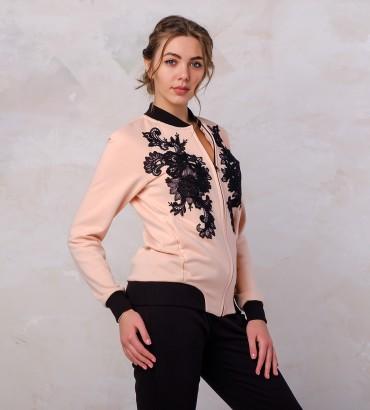 Одежда розовый бомбер женский Афины