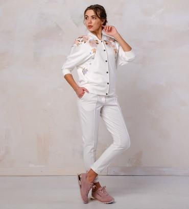 Одежда белый спортивный костюм Оливия