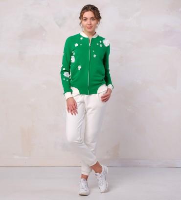 Одежда летний спортивный костюм зелёный Мелисса