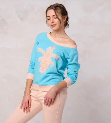 Одежда голубой свитшот Лола