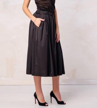Одежда летняя юбка черная  шелк 2