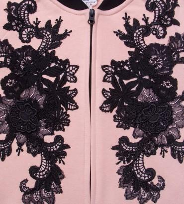 Одежда розовый бомбер женский Афины 2