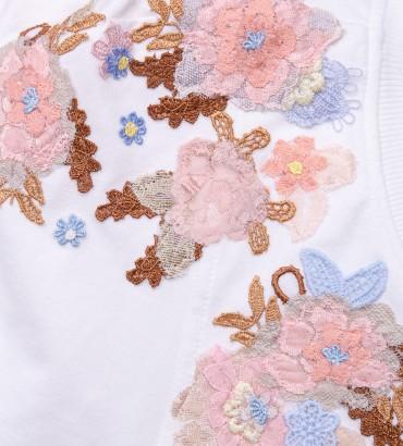 Одежда платье белое с кружевом Оливия 2