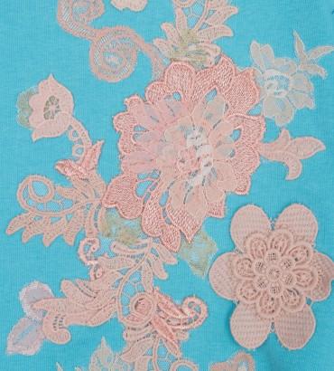 Одежда голубой свитшот с кружевом Наоми 2