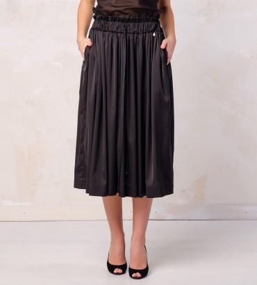 Одежда летняя юбка черная  шелк