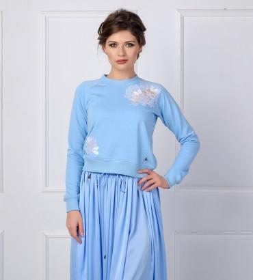 Одежда свитшот голубой Твигги blue