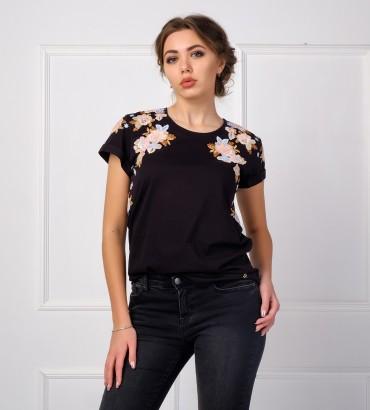 Одежда черная футболка Оливия
